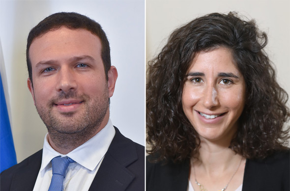 Ayelet Levin Karp, Israel economic attaché to Ghana and economic attaché to Colombia Nir Adam Sella. Photo: Gideon Sharon