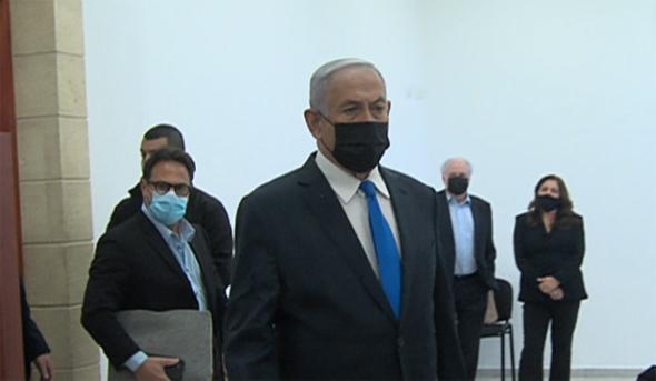 ראש הממשלה בנימין נתניהו מגיע לבית משפט, צילום: קונטקט