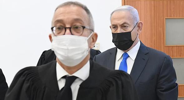 בנימין נתניהו בבית המשפט , צילום: ראובן קסטרו