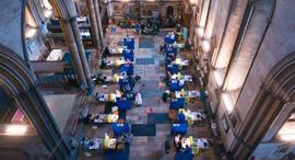 פוטו חיסוני קורונה קתדרלת סלייסבורי אנגליה , צילום: גטי