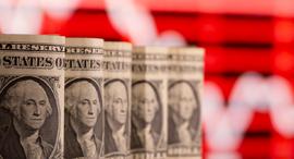 """מטבע דולר כסף ארה""""ב שטרות דולרים, צילום: רויטרס"""