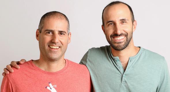 Lusha co-founders Assaf Eisenstein (left) and Yoni Tserruya. Photo: Geva Talmor
