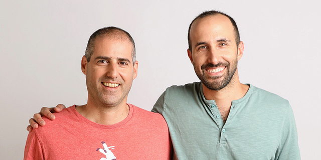 Lusha co-founders Assaf Eisenstein (left) and Yoni Tserruya. Photo: Geva Talmor