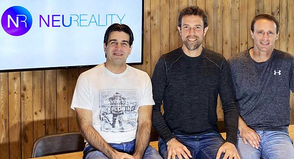 NeuReality founders VP VLSI Yossi Kasus (from left), CEO Moshe Tanach and VP Operations Tzvika Shmueli . Photo: NeuReality