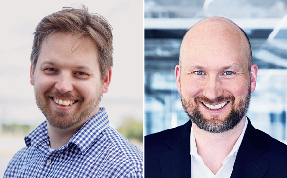 Florian Funk (right), Partner in the EQT Private Equity business line, and Petter Weiderholm, Global Head of IT Strategy. Photo: Courtesy