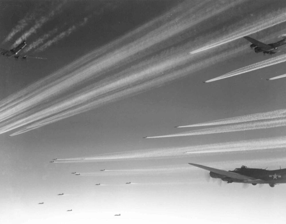 מבנה מפציצים גדול באוויר