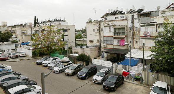 מתחם ברחוב ווגווד שמיועד ל פינוי בינוי בשכונת ביד אליהו תל אביב, צילום: עמית שעל