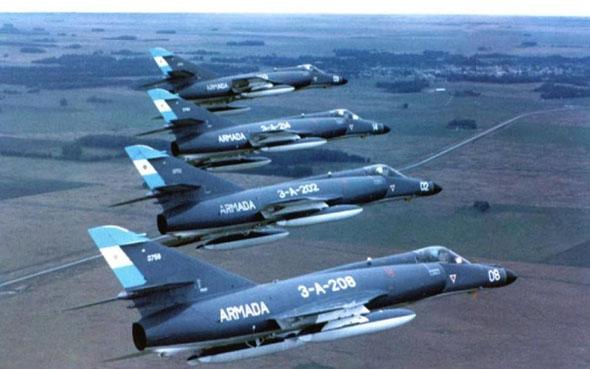 מטוסי סופר אטנדאר של ארגנטינה, צילום: greatmilitarybattles