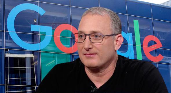 נועם ברדין על רקע מטה גוגל, צילום: מסך CNN איי פי