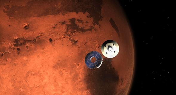 הדמיית הנחיתה על מאדים