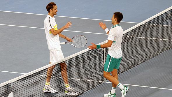 נובאק ג'וקוביץ' ניצח את דניל מדבדב באליפות אוסטרליה הפתוחה בטניס