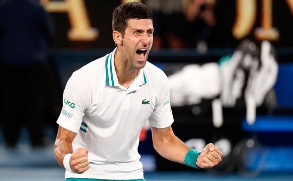 נובאק ג'וקוביץ' מנצח באליפות אוסטרליה הפתוחה בטניס