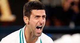 נובאק ג'וקוביץ' זוכה אליפות אוסטרליה הפתוחה טניס פברואר 2021, צילום: רויטרס