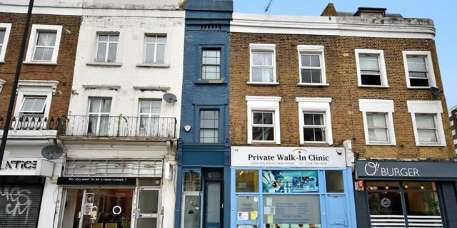 צפו: הבית הצר ביותר בלונדון מוצע למכירה