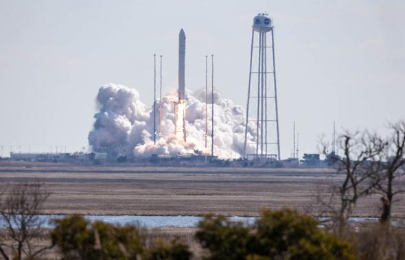 The Northrop Grumman rocket was carrying an Israeli satellite. Photo: NASA/Patrick Black