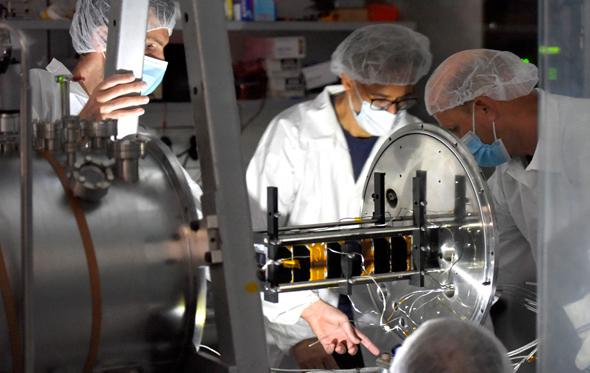 Tel Aviv University's TAU-SAT1 nanosatellite in the lab. Photo: TAU