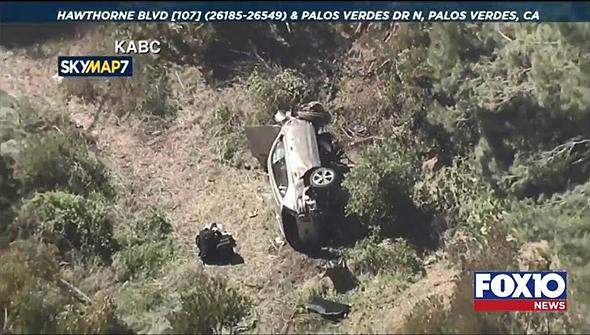 הרכב של טייגר וודס לאחר תאונה