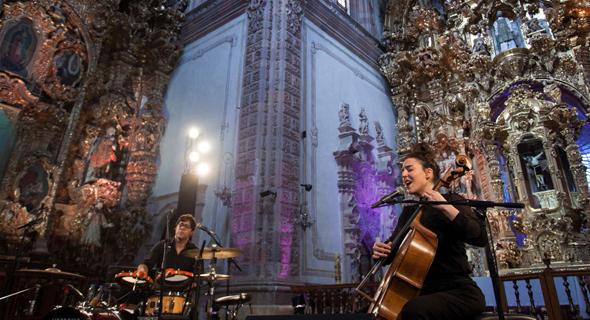 מאיה בלזיצמן ומתן אפרת בפסטיבל