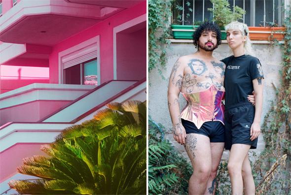 """עבודות של ליאני. מימין מתוך הפרויקט הוויראלי """"הארכיון הלהט""""בי"""". משמאל: מתוך """"הכלכלול"""""""