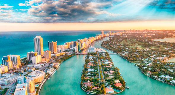 מיאמי. ב-2020 שיעור רכישת הדירות בפלורידה נסק ב-120% ביחס לשנה שקדמה לה