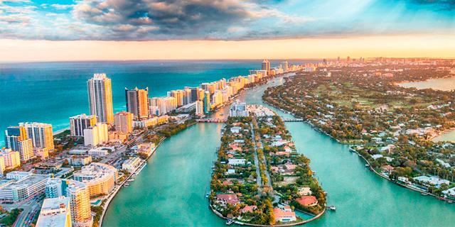 מיאמי רצועת חוף זירת הנדלן , צילום: שאטרסטוק