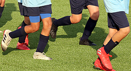 אימון ילדים בקבוצת כדורגל , צילום: אורן אהרוני
