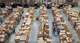 An Amazon logicstics center in the UK. Photo: Bloomberg