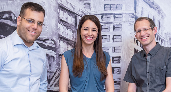 Hailo's founders Orr Danon, Hadar Zeitlin, and Avi Baum. Photo: Eran Tayree