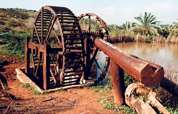 A historic waterwheel restored by Drai