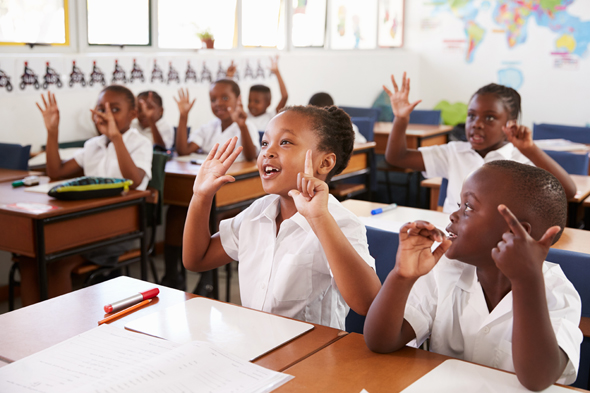 Amos-17's cloud platform that be used to teach children virtually in Africa. Photo: Shutterstock