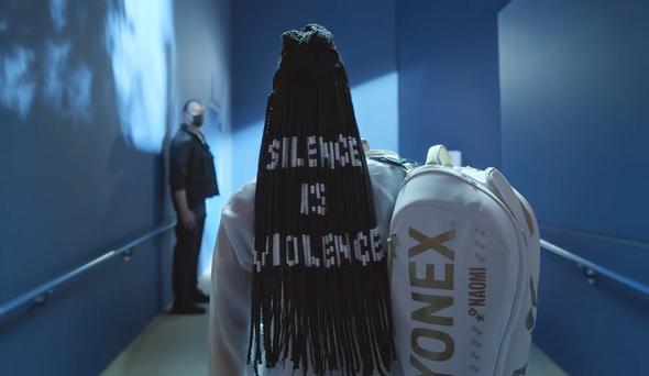 """מתוך הפרסומת של אוסקה לביטס, עם המסר """"שתיקה היא אלימות"""""""