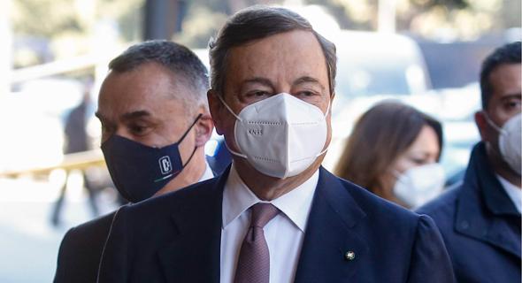 ראש ממשלת איטליה מריו דראגי