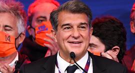 נשיא ברצלונה הנבחר ז'ואן לאפורטה, צילום: גטי אימג'ס