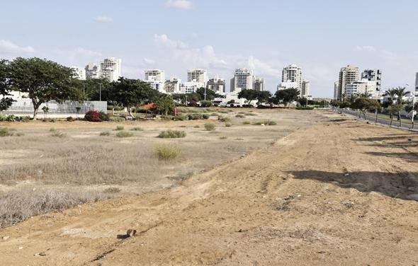 """הקרקע לבנייה ברובע ט""""ו באשדוד, צילום: גדי קבלו"""
