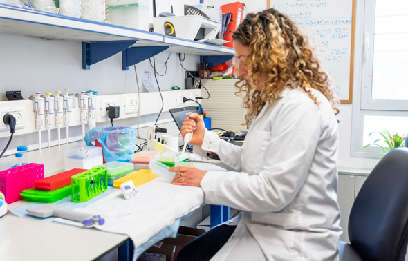A look inside the Pepticom Lab. Photo: Itai Monnickendam