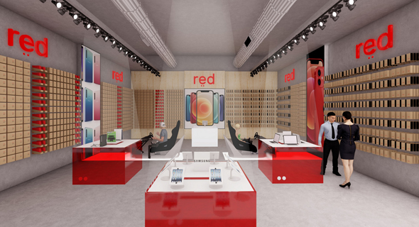 REDמותג הסלולר החדש של פוקס ו הוט רד  , הדמיה: Klein Studio