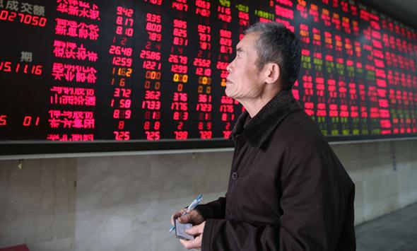 שוק המניות בשנגחאי, סין, צילום: אי פי איי
