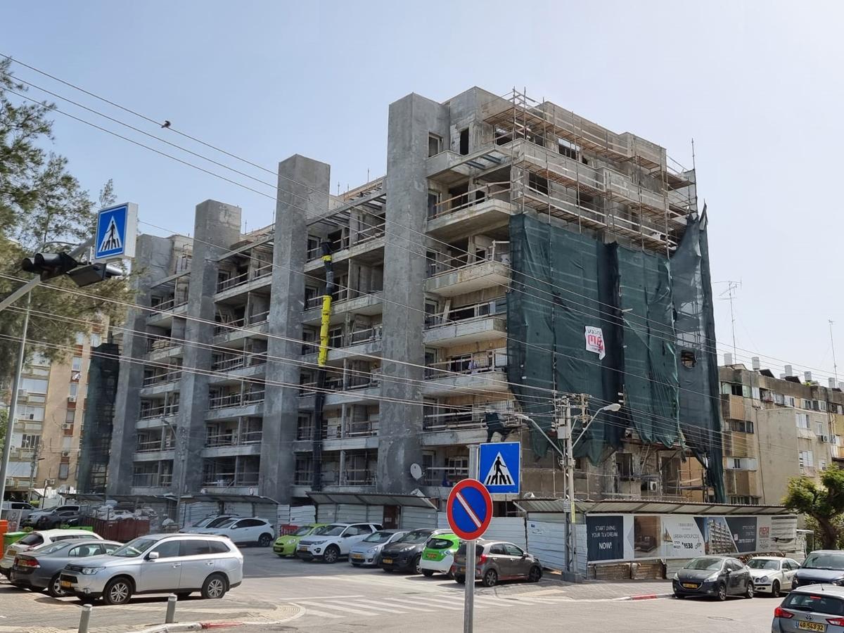 העבודות בבניין ברחוב מעפילי האגוז 66. אכלוס הפרויקט צפוי עד סוף השנה
