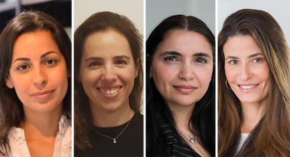 מימין: עורכות הדין רונית סיטון זלקינד,  חנה וינשטוק טירי, ליאת סלם וקרן חן סופר