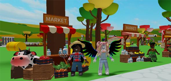 """מתוך המשחק My Farm ש-Toya פיתחה בתוך רובלוקס. """"עולמות שלא נשענים על סטריאוטיפים"""""""