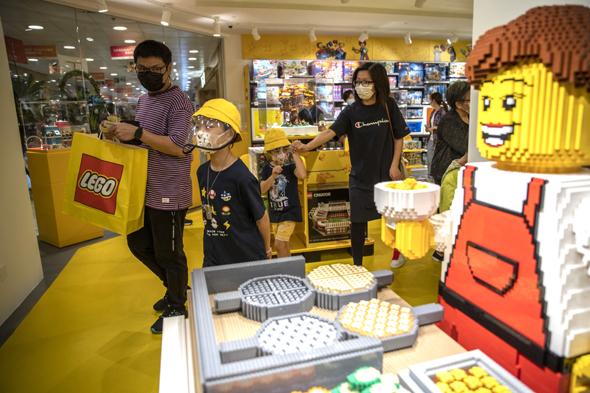 חנות לגו בהונג קונג