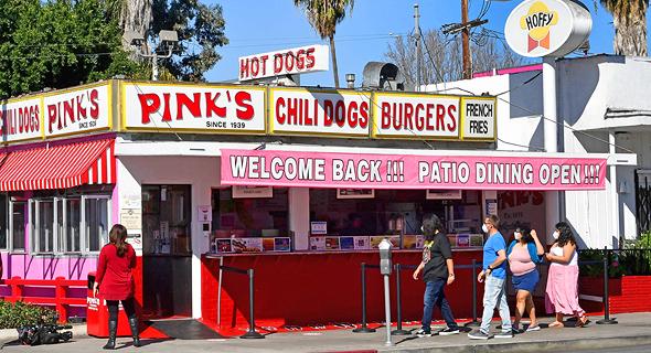 מסעדת הנקניקיות פינק בלוס אנג
