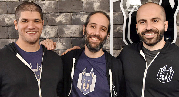 Snyk co-founders Guy Podjarny (from left), Danny Grander and Assaf Hefetz. Photo: Snyk