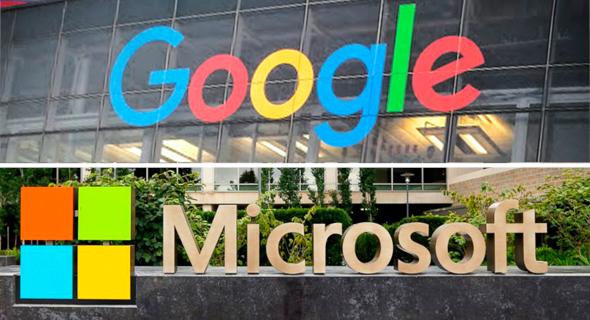 גוגל ו מיקרוסופט,   צילום: גוגל microsoftproductreviews.com