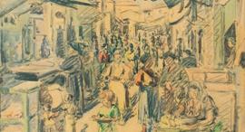 לודוויג בלום, ירושלים, שוק מחנה יהודה, 1924