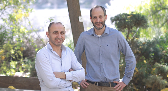 Teramount co-founders Hesham Taha (left) and Abraham Israel. Photo: Ilan Asaig