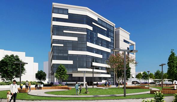 הדמיית מגדל מ.ס.ר עזריאלי ב בית חולים שיבא תל השומר, הדמיה: מוססקו אדריכלים