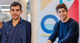 Yotpo co-founders Omri Cohen (left) and Tomer Tagrin. Photo: Mor Shani