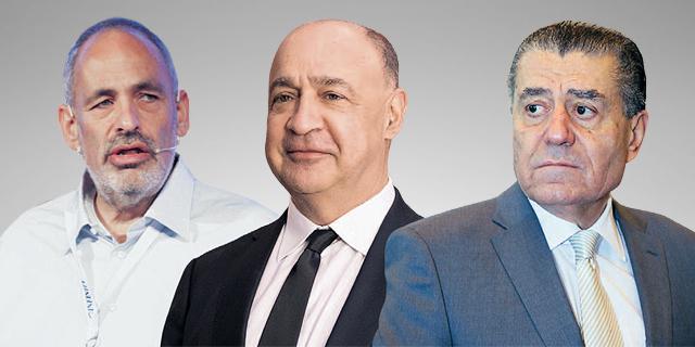 IronSource investors Shlomo Dovrat (left), Len Blavatnik and Haim Saban