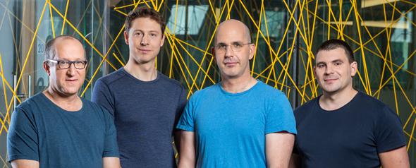 StarkWare co-founders (from right), Michael Riabzev (Chief Architect), Uri Kolodny (CEO), Alessandro Chiesa and  Eli Ben-Sasson (President). Photo: Eyal Tuag